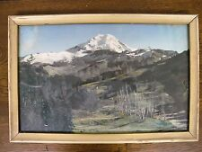 """Vintage Original Clyde Banks Hand Colored Photo 18x11.5"""" Mt Baker Undocumented"""