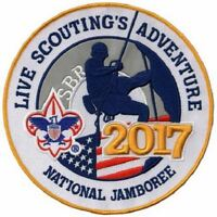 "3D 2017 BOY SCOUT OFFICIAL NATIONAL JAMBOREE BIG 8"" JACKET PATCH EMBLEM BSA OA"