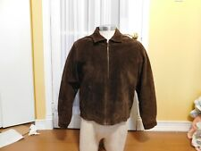Women's Browning Gold Suede Brown Leather Jacket Ladies Size Large