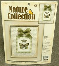 NATURE COLLECTION 2 BUTTERFLY NEEDLECRAFT YARN CROSS STITCH HAND EMBROIDERY KIT