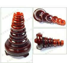 1PCs Red Wood Display Stand Base For Crystal Ball Sphere Globe Stone Home Decor