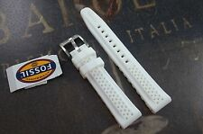 Fossil Unisex Men's Woman's Silicone Watch Strap 18mm White ESS150
