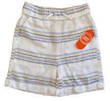 Boys Toddler Wonder Nation Linen Shorts Cream Striped Size 5T New