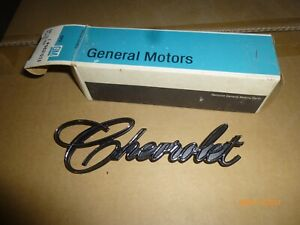 9831025 NOS GM 1971 - 1975 Chevrolet Impala Trunk Emblem