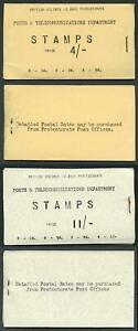 SOLOMON ISLANDS SGSB1/2 1959 4s and 11s booklets stapled at right.