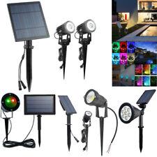 Solar LED Spotlight Spike Waterproof Wall Lighting Walkway Outdoor Garden Lamp