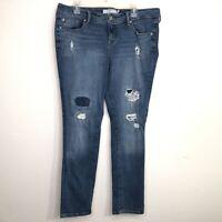 "Torrid Women's Size 16R Boyfriend Distressed 9"" Rise Jeans Inseam 30"""