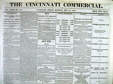 Lot of 5 Original 1868 CINCINNATI Hamilton County OHIO newspapers -156 years old