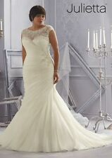 Unbranded Plus Size Mermaid & Trumpet Wedding Dresses