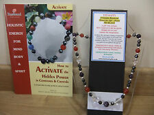 VITALITY An Holistic - Hand-Made 18 inch Esoteric Gemstone Necklace plus a book.