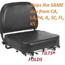 New Nissan FORKLIFT Seat-Vinyl PN 87000-L200 Tilts, Folds