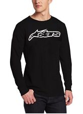 Alpinestars Motocross Blaze Black/White L/S thermal atletic mens t shirt Small
