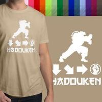 Hadouken Ryu Street Fighter Ken Retro Gaming Mens Crew Neck Tee Unisex T-Shirt