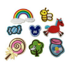 8Pcs Embroidery Sew Iron On Patch Badge Fabric Bag Clothes Applique Craft DIY