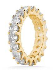 4.51 ct Princess cut Diamond Eternity Wedding Ring U shape Band 14k Yellow Gold