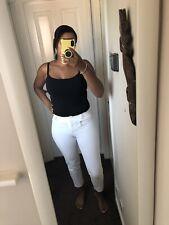 Next White Capri Trousers Size 10 Cropped White Pants