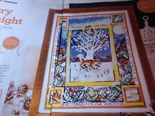 CROSS STITCH CHART WINTER WOODLAND SAMPLER CHART SNOW FOX OWL BIRD SCENE