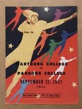Wartburg (IA) Parsons (IA) COLLEGE FOOTBALL PROGRAM - 1957 - EX
