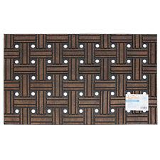 JVL Sienna Geometric Weave Heavy Duty Outdoor Rubber Door Mat 45 X 75 Cm Square