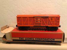 Lionel Postwar 6646 Orange Stock Car w SCARCE Box 1957 super nice!! HTF