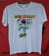 Bob Marley Rare vintage t-shirt Kaya Cigarette Jamaica  white cotton size L