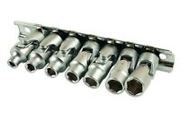 Laser 7024 Universal Joint Socket Set 1/4 Drive 7pc 5mm - 10mm Chrome Vanadium