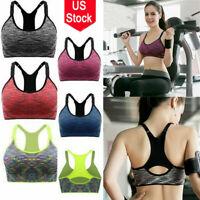 Women Gym Running Yoga Bra Sport Pad Bras Tank Workout Fitness Push Up Vest Hot