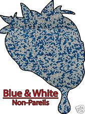 Christmas Holiday Chanukah Mix Blue & White Non Pareils Sprinkles Jimmies 8 oz