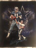Danny White Dallas Cowboys Autographed 8x10 -Gdst Hologram Edit