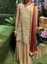 Pakistani Indian Bridal Dress Lengha Heavy Embroidered Wedding Kameez Girls I