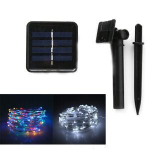 200 LED Outdoor Light Solar Power Lamp Fairy String Party Wedding Decor Garden