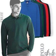 Langarm Herren-Poloshirts aus Baumwolle