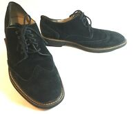 Cole Haan Black Wingtip Oxford Classy Suede Shoes Leather Lining Mens Size 13 M