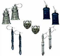 Official Doctor Who Earrings - 10th & 11th Sonics, Dalek, Tardis & Cyberman