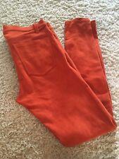CURRENT ELLIOTT Orange Suede Jeans Pants Trousers