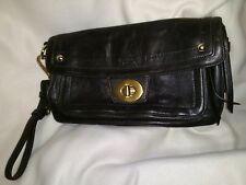 COACH 12450 Hampton Vintage Mocha Clutch Handbag Purse Brown Leather GUC