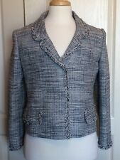 Boucle Jacket  ALBERTA FERRETTI - Blue Sz 10 (Medium)  Excellent!