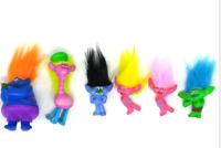 6Pcs/set Movie Trolls Action Figures Poppy Branch Doll Collectible Toy Kids Gift