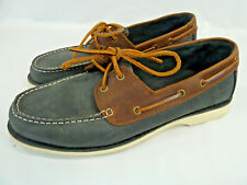 Clarks Black & Brown Leather Boat Shoes, Sz 10,5 M, Classic Style, Non Slip Sole