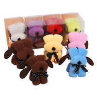 5pcs Dog Cake Towel Face Hand Washcloth Flannel Gift Cloth Present
