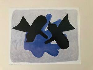 GEORGES BRAQUE,'BIRDS,1963' RARE  AUTHENTIC 1989 ART PRINT