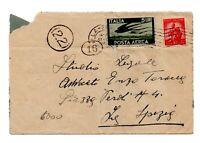 1948 REPUBBLICA DEMOCRATICA POSTA AEREA LIRE 5 + LIRE 10 - LA SPEZIA