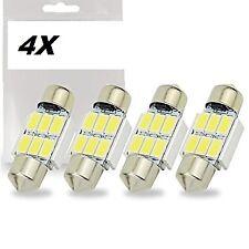 4 LAMPADINE SILURO T11 C5W 31mm 6 LED SMD 5630 CANBUS no errore TARGA ABITACOLO