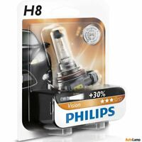 PHILIPS H8 Vision Car Headlight Bulb 30% More light 12360B1 Single