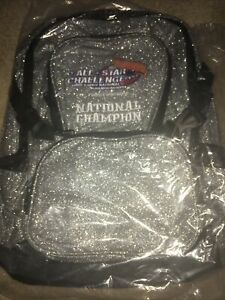 New All Star Challenge Silver Sparkly National Champioship Backpack - Cheer