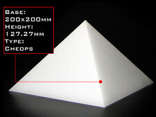 Orgonite Casting Giza Pyramid Mold, 200 X 200mm Base, Self-Lubricating HDPE