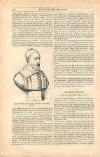 Buste de Fabri de Peiresc/Peyresc par Claude-Clair Francin France GRAVURE 1836