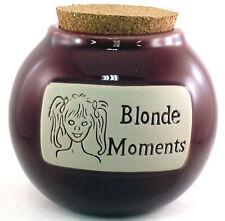 """Girlfriend Friend Co-Worker Female Silly Joke Money Word Jar """"Blonde Moments"""""""