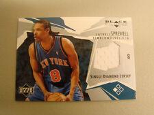 2003-2004 UD Black Diamond #BD-LS Latrell Sprewell Jersey Card !! BOX 22