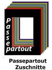 Passepartout 40 x 50 cm Ausschnitt 29 x 39 cm diverse Farben